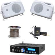 """5"""" Mini Box 500W Speakers, Bluetooth Amplifier, Lavalier Mic Set, Speaker Wire"""