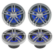 "4 Enrock Audio 6.5"" 2-Way EM265C Ultra Car Motorcycle Marine Boat Speaker 2 Pair"