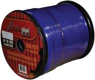 Audiopipe 18Ga Spekaer & Remote Wire 500' Ft Blue