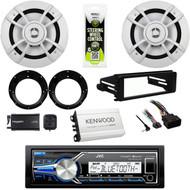 "JVC USB Harley FLHT 98-2013 Install Dash Kit, Amp,6.5""Speakers/Adapters,XM Tuner"