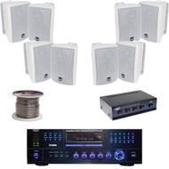 "4"" 100W Box Speakers, Speaker Wire, Speaker Selector, PD3000A DVD USB Receiver"