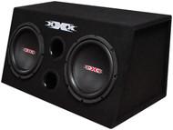 "Xxx Bass Pkg.Dual 10"" W/Amp + Amp Kit. Black Woofers"