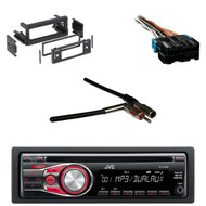 JVC KDR330 CD AUX Car Radio, Antenn Adapter, GM Wire Harness, GM Dash Install Kit