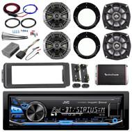 Harley Bluetooth USB Install FLHT Adapter Kit, Amplifier Kit, Kicker Speaker Set