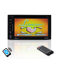 New SDNV66B 6.5'' Video Headunit Receiver, GPS Navigation, Bluetooth Wireless Streaming, CD/DVD Player, Double DIN