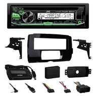 2014-15 Harley Touring Install Adapter FLHT Dash Kit, CD JVC Bluetooth Receiver
