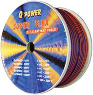 Qpower 10 Gauge 150Ft Speaker Wire Spool Blue/Orange