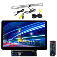 """Pyle 13.1"""" AUX Bluetooth CD MP3 LCD Touch Receiver, 1 Zinc Back Up Pyle Camera"""