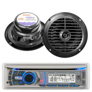 """New 240W Dual AMB600W Boat Marine Waterproof CD MP3 USB Stereo 2 x 6.5"""" Speakers"""