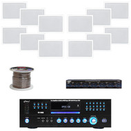 """PD1000A DVD USB Receiver, 6.5"""" Mid Bass Wall Speakers, Speaker Wire & Selector"""