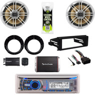"Dual Bluetooth Stereo, 98-2013 Dash Harley Kit, XM Tuner, 6.5""Speakers, Adapters"