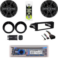"Dual CD Bluetooth Radio, XM Tuner,FLHX FLHT Harley Install Kit, 6.5""Speaker Set"