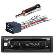 Kenwood KDC-BT265U In Dash CD DIN Bluetooth Stereo Receiver, Scosche BW01B Mini Power/Speaker Connector, Scosche VWAB Antenna Adapter