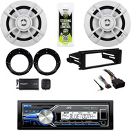 """USB JVC Stereo-Harley 98-2013 Dash Install Kit, 6.5""""Speakers, Adapters, XM Tuner"""