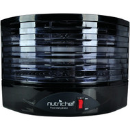 NutriChef Food Dehydrator - Electric Kitchen Dehydrator - Jerky Maker - Dried Fruits and Dried Meat Maker Color Black (PKFD19BK)