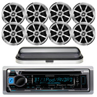 Kenwood KMR-D368BT CD MP3 Bluetooth Stereo AM/FM iPod iPhone Radio Player, Pyle PLMRB29B Bluetooth In-Dash Stereo Radio Headunit Receiver, PLMRCW1 Pyle Water Resistant White Radio Shield Cover