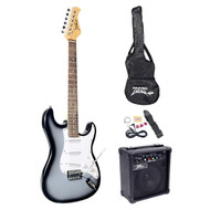 Beginner Electric Guitar Package Grey Silver
