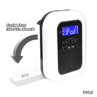 New PLBACS Bluetooth Music Stream Alarm Clock Receiver/FM Radio iPod LCD Display