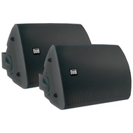 Dual LU53PB 125 Watt 3-way Indoor/Outdoor Speakers in Black (Pair)