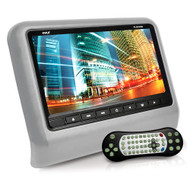 New PLD93GR Headrest Vehicle 9'' Video Display Monitor, CD/DVD Player, USB/SD Readers, HDMI Port (Gray)