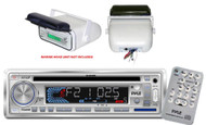 200Watt  Marine Boat In Dash Stereo CD MP3 Aux Radio + Stereo Housing and Cover