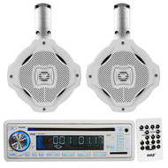 "Lanzar 6.5"" 2Way Marine Wake Board Speakers,Pyle AM FM USB CD SD Marine Receiver"