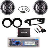 "Harley Install FLHT 98-2013 Kit, Bluetooth Stereo, 6.5""Speaker Set, Amp, Antenna"