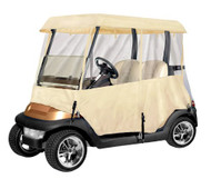Armor Shield Deluxe 4 Sided Golf Cart Enclosure 2 Passenger, Fits Carts up to 66'' Length (Tan Color)
