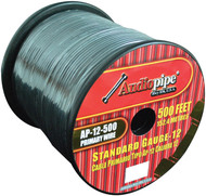Audiopipe 12 Gauge 500Ft Primary Wire Black