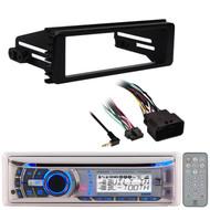 Dual USB CD Bluetooth Marine Radio, Harley  98-2013 FLHTC FLHX Install Adapter