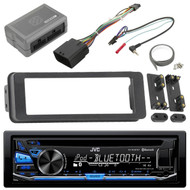 KDRD87BT Bluetooth USB CD Radio, Harley 98-2013 FLHTC FLHX Install Adapter Kit