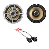 "Pair Polk Audio DB651 6.5"" 2- Way Marine ATV Outdoor Coaxial Car Audio Stereo Speakers Silver, Metra 72-4568 Speaker Harness for Select GM Vehicles"