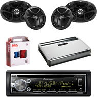 "1 X In Dash Pionner DEHX6900BT In Dash Receiver, 1 X 8g Install Kit, 1 X Pair JVC CSJ6930 6x9"" Speakers, 1 X Pair JVC CSJ620 6x5"" Speakers, 1 X MB Quart NA3604 4 Ch Amp"