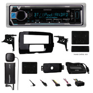 2014-15 Harley Radio install Adapter Dash Kit +SiriusXM Antenna & Thumb Control