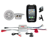 "New Marine Bike Boat Outdoor 2Channel iPod MP3 Input Amplifier,4"" White Speakers"
