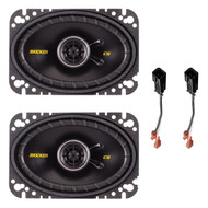 """This Bundle Combo Kit Includes 2x Kicker 40CS464 4 X 6"""" Inch Car Stereo Speakers + Metra 72-6512 Speaker Wire Connectors"""