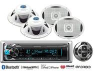 "6x9"" Marine 2Way Speakers, Kenwood Bluetooth USB AUX Marine Radio/Wired Remote"