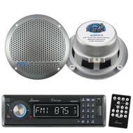Lanzar In-Dash Marine Radio CD/SD/MMC/USB/Bluetooth &300W  5.25'' Boat Speakers