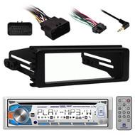 Dual AM425BT Bluetooth Marine CD Radio, Harley 98-2013 FLHT FLHX Installation Kit