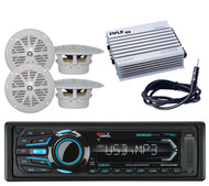 Boss Bluetooth Marine AM/FM iPod iPhone USB Radio, 4  Speakers,Amplifier,Antenna