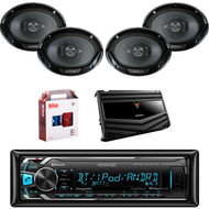 "1 X In Dash Kenwood KMMBT322U In Dash Media Bluetooth Receiver, 2 X Pair Kenwood KFC6966S  6X9"" Speaker, 1 X Kenwood KAC6406 4/3/2 Ch Amp, 1 X 8g Install Kit"