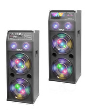 DJ 1400W 2Way PA USB FM Light Up Speakers, Pyle 1400 Dual Passive Speaker System
