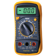 Pyle PDMT29 Digital LCD Multimeter, AC, DC, Volt, Current, Resistance, Range with Rubber Case and Stand