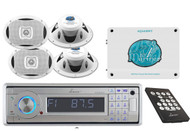 AQCD60BTS Yacht Detachable Stereo W/Bluetooth+Boat Speakers+1600 Watts Amplifier