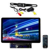 """Pyle 13.1"""" LCD Bluetooth CD Mp3 AUX Receiver, Night Vision Rear BackUp Camera"""