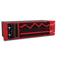 "2-Channel 31-Band Graphic Equalizer w/LED illuminated faders & 1/4"" connectors"