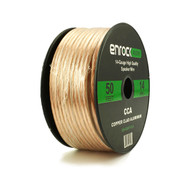 Enrock Audio 14 AWG Gauge 50 Feet Speaker Wire Cable - CCA Copper Clad Aluminum - For Car & Home Theater Speakers Installation