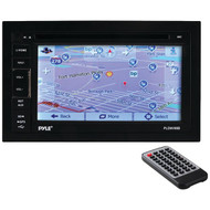 New PLDNV66B 6.5'' Double-DIN Touchscreen Video Multimedia Disc/MP4/MP3/CD Player With Hands-Free Bluetooth, GPS w/USA/Canada/Mexico Maps, USB/SD, Aux-In