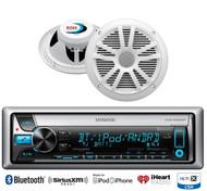 "KMRD765BT Bluetooth iPod AUX USB CD Marine Radio, 2 Boss 6.5""180W White Speakers"