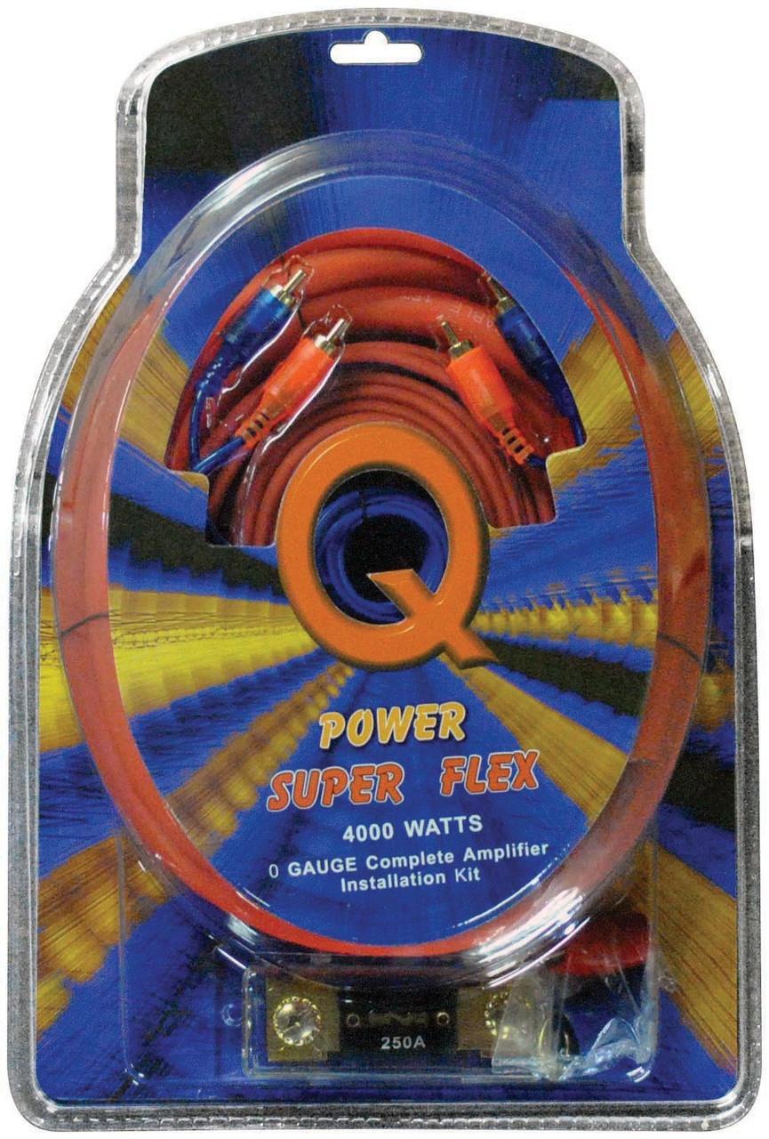 Qpower 4 Gauge Amp Kit Super Flex Road Entertainment Lanzarr Ampkit4 Contaq Amplifier Wiring